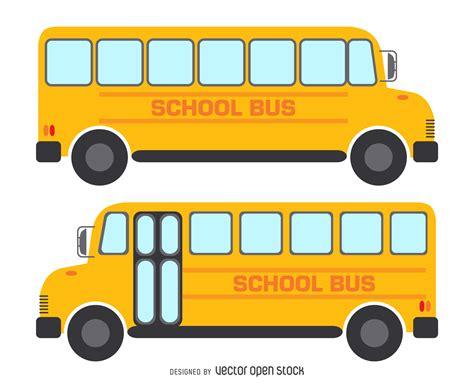 imagenes transporte escolar animado 2 aislados dibujos de autobuses escolares descargar vector
