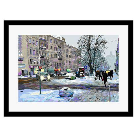0465 Bantal Print 50x40 Cm winter new york framed print 50x40 cm achica