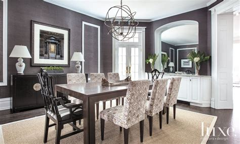 charcoal contemporary dining room luxe interiors design