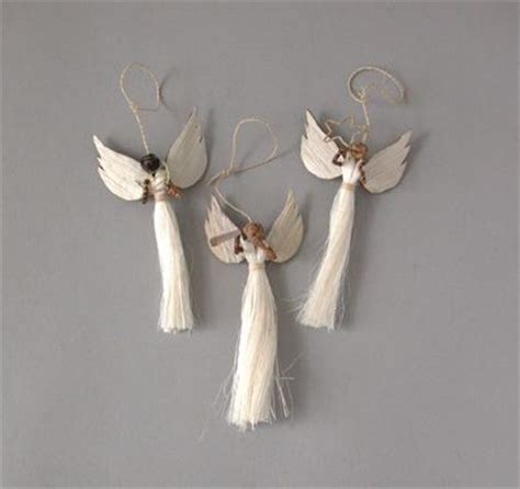 angel decorations for home homemade angel christmas ornaments which are handmade in kenya from sisal and banana fiber