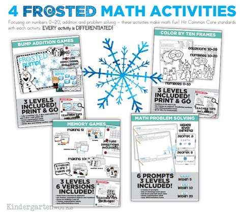 cool math scenarios and strategies books frosted unit of frozen winter math and reading