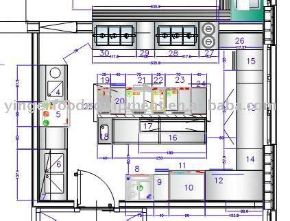 sle layout of commercial kitchen commercial hotel kitchen project 05 kitchen equipment