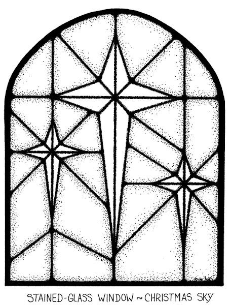 Stained Glass Coloring Pages Christmas – Colorings.net