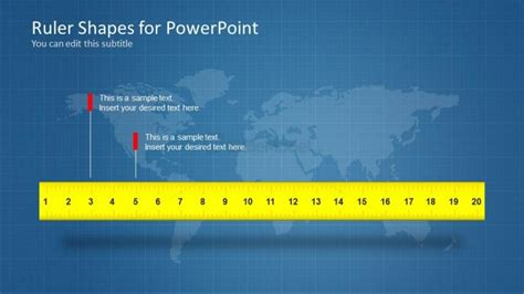 6073 01 Ruler Powerpoint Templater 2 Slidemodel Powerpoint Template Size Inches