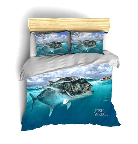 Fishing Comforter Set by Gt Bed Sets Fishwreck Fishing Apparel Australia