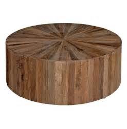 Round Wood Coffee Table With Glass Top » Home Design 2017