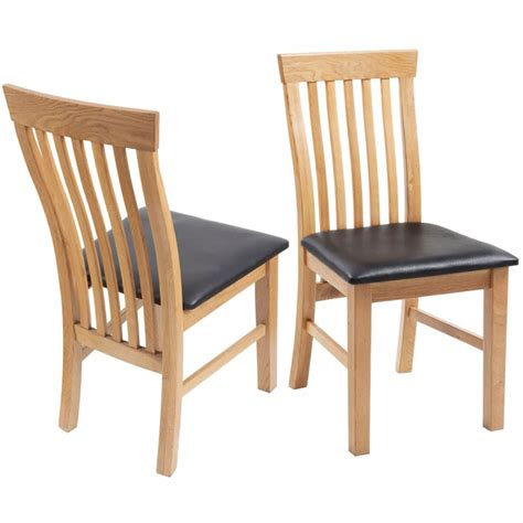 Oak Wood Dining Chairs Vidaxl Oak Wood Dining Chairs 4 Pcs Artificial Leather Vidaxl Co Uk
