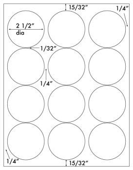 printable circle stickers avery inkjet glossy white printable sticker labels 50 sheets 2 5