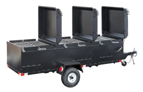 chicken bbq pit trailer meadow creek bbq144 commercial chicken cooker trailer 4 pit