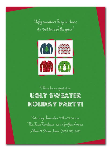 ugly sweater party invite poem long sweater jacket