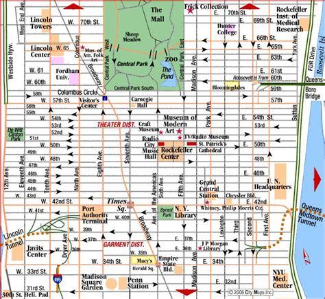 manhattan safety map 센트럴파크 아래쪽부터 매디슨크퀘어 가든이 있는 31스트리트 근처까지가 미드타운이다 미드타운의 중심은