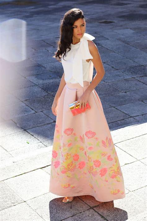 faldas largas para bodas 2016 falda larga de fiesta estada flores para invitada boda