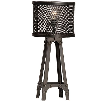 Wine Hutches Spencer Industrial Table Lamp