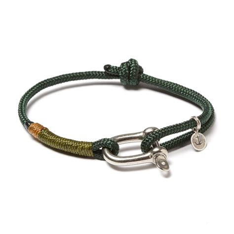 Stainless Steel D Shackle Adjustable Cuff // Green   Olive   JLK Sails   Touch of Modern