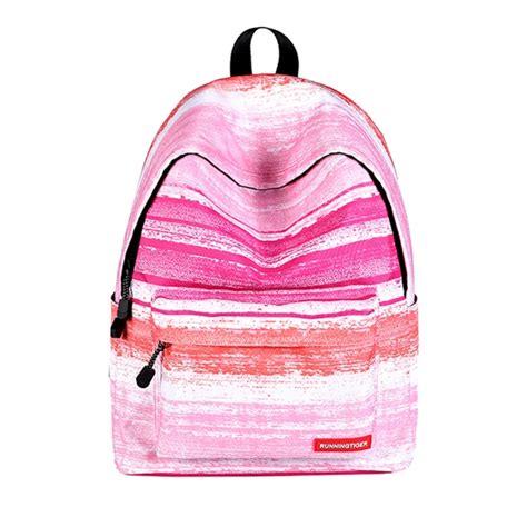 Pattern Pink Backpack pink stripe pattern print travel backpack school shoulders bag for 40cm x 30cm x 17cm