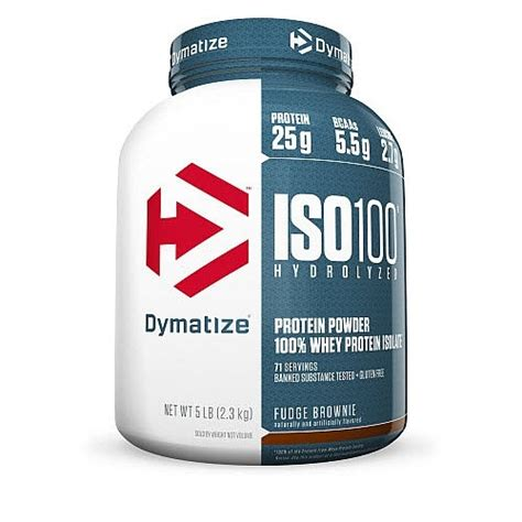 protein f 100 dymatize iso 100 protein powder fudge brownie 5 lb jet