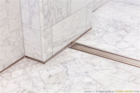 Bathroom Tile Floor Wall Transition Alabaster Splash Schluter