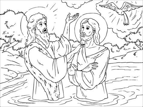 imagenes de jesus para colorear imprimir imagenes del bautismo de jesus para colorear imagui