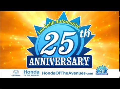 Honda Of The Avenues by 25th Anniversary Sale Honda Of The Avenues