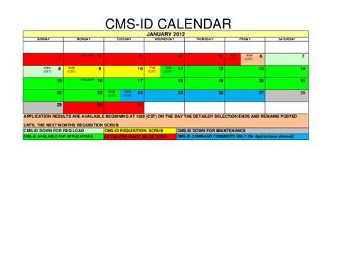 Cms Calendar Cms Id 2012 Active Calendar