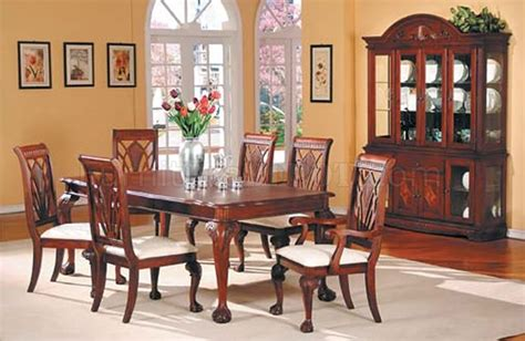 Traditional Dining Room Sets Cherry by Cherry Finish Formal Dining Table W Optional Chairs