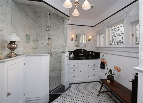 Traditional Wainscoting - victorian bath victorian bathroom san francisco by joanne cannell designs