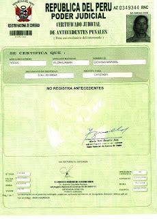 tramite antecedentes no penales 2016 d f tr 225 mites y documentos donde saco certificado de