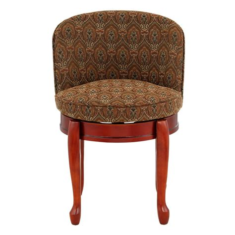 Delmar High Back Swivel Vanity Stool by Home Decorators Collection Delmar Tapestry High Back