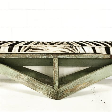 extra long bench cushion extra long vintage farmhouse bench with zebra cushion for