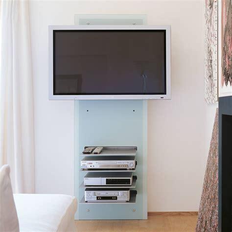 porta televisore a muro william porta televisore da muro in cristallo con ripiani