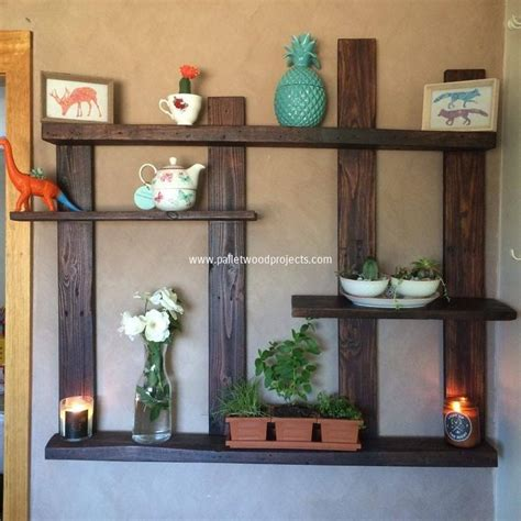wood pallet home decor pallet shelves with wall decor pallet wood projects