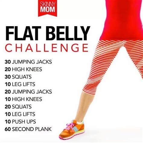 Flat Belly Challenge Calendar
