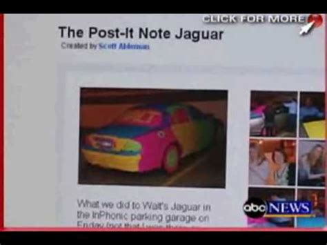 Post It Meme - the original post it note car 14000 sticky notes on a