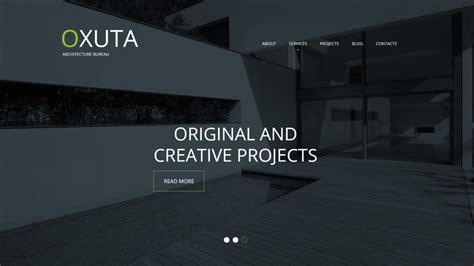 architect website design white headline text trend comes into play in web design