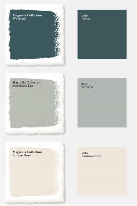 paint color match magnolia paint colors matched to behr joyful derivatives