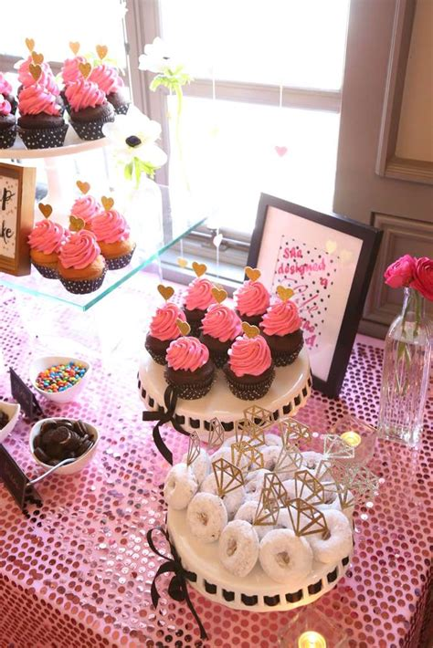 pink bridal shower favor ideas sophisticated kate spade inspired bridal shower bridal shower ideas themes