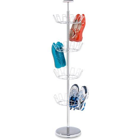 shoe tree storage honey can do 4 tier shoe tree chrome walmart