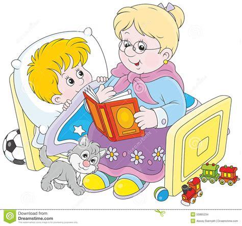 hadas de la lectura cuentos de hadas de la lectura de la abuelita y nieto ilustraci 243 n vector imagen 55865234