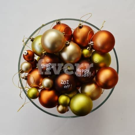 write  christmas message  greeting  coloured baubles  madmoo