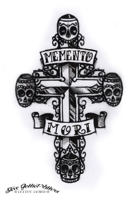 mori tattoos designs memento mori cross by stevegolliotvillers on deviantart