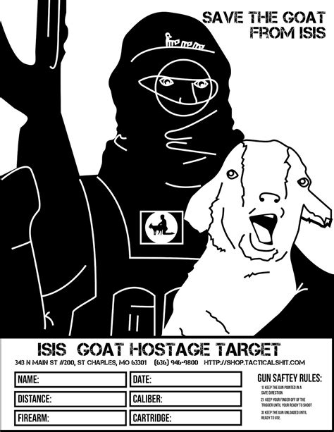 funny printable gun targets save the goat from isis free printable shooting targets