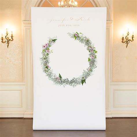 Woodland Wreath Wedding Personalized Photo Shoot Backdrop