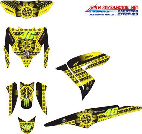 Sticker Striping Honda Spacy Vr 46 striping motor yamaha xeon rc sweeter helmet vr46