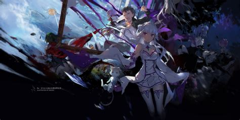 subaru and emilia wallpaper re zero re zero starting life in another world know