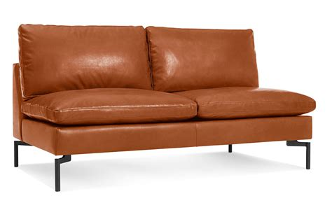 New Leather Sofas New Standard Armless Leather Sofa Hivemodern
