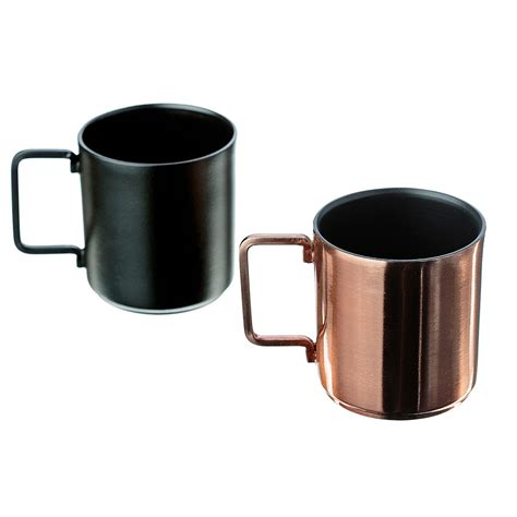 coffee cups copper and black coffee cups set of 2 espresso mugs