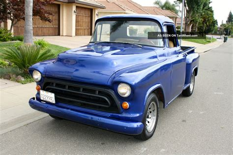 1957 chevy truck hot rod 1957 chevrolet stepside pickup short bed hot rod
