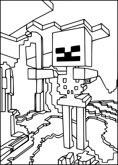 minecraft transformers coloring pages coloriage squelette minecraft 224 imprimer