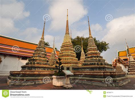 thailand reclining buddha wat pho or wat phra chetuphon the temple of the reclining