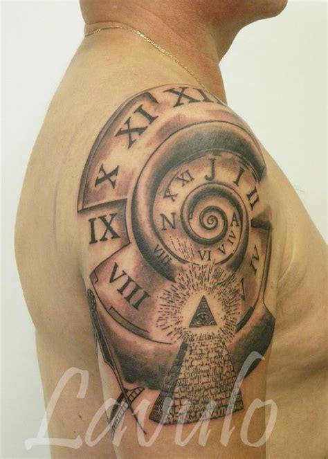 tattoo design clock 61 stunning clock shoulder tattoos